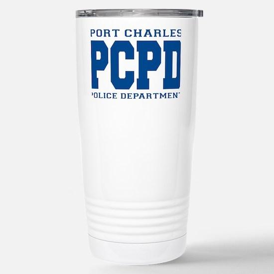 PCPD blue Stainless Steel Travel Mug
