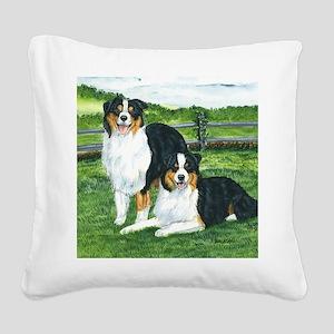 aussie tris w fence Square Canvas Pillow