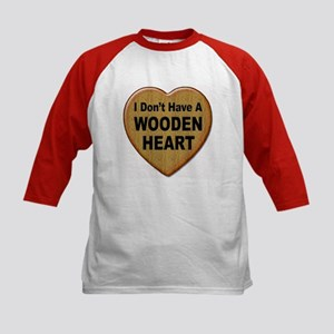 No Wooden Heart (Front) Kids Baseball Jersey