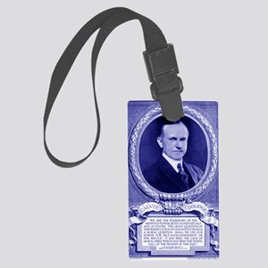 Coolidge-quote-card-blue Large Luggage Tag