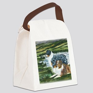 aussie blue and red in feild Canvas Lunch Bag