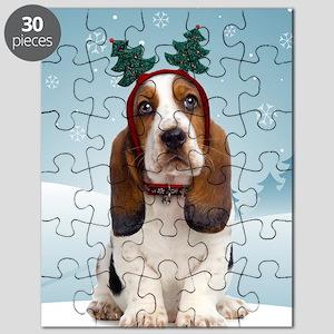 cp_bassetxmascardfront Puzzle