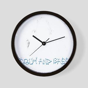 DnB Graffiti Girl Wall Clock