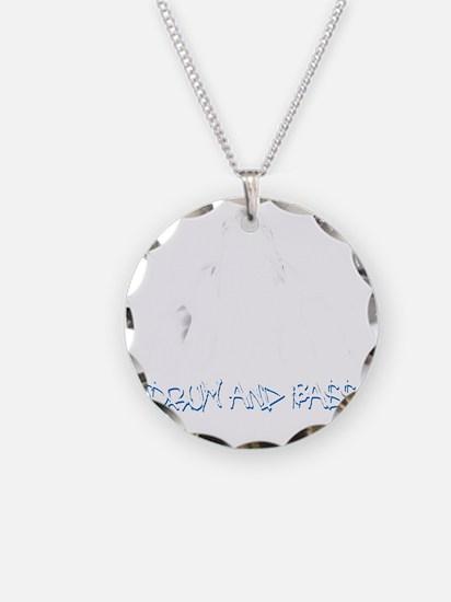 DnB Graffiti Girl Necklace Circle Charm