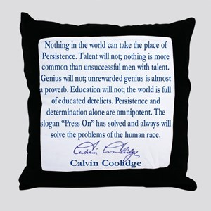persiostence-quote=square Throw Pillow