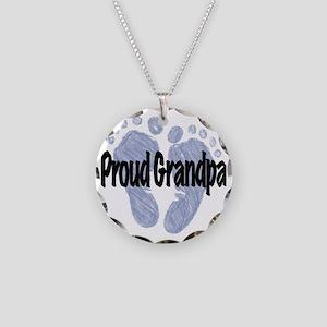 Proud Grandpa (Boy!) Necklace Circle Charm
