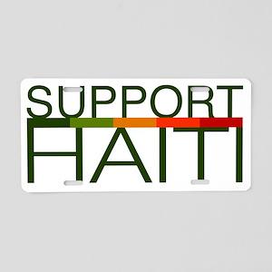 Support Haiti Aluminum License Plate