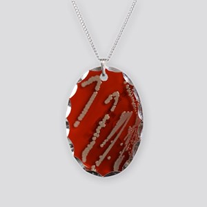 Bacteria are creatures too w 1 Necklace Oval Charm