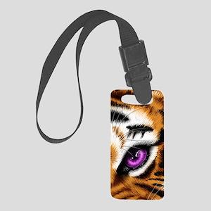Tiger Purple Eye Small Luggage Tag