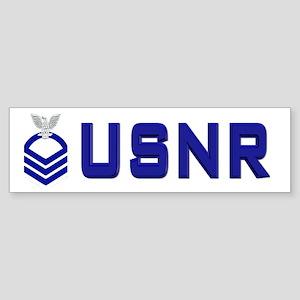 USNR CPO Bumper Sticker