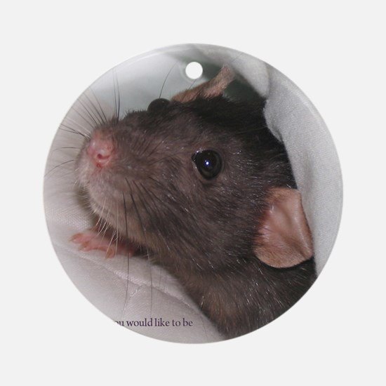 Molly1withsaying Round Ornament