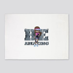 Be Amazing Tennis 5'x7'Area Rug