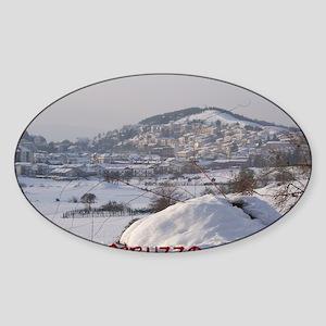 Abruzzo Winter 1 Sticker (Oval)