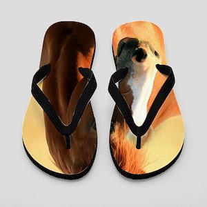 horse,1 Portrait Flip Flops