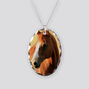 horse,1 Portrait Necklace Oval Charm