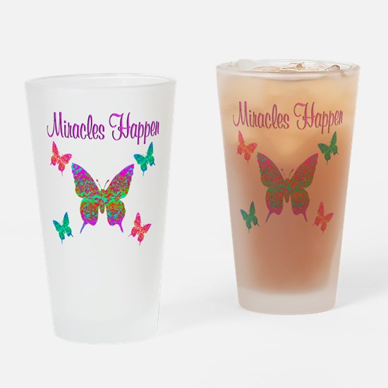 MIRACLES HAPPEN Drinking Glass