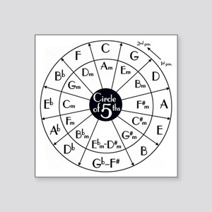 "circle of fifths Square Sticker 3"" x 3"""