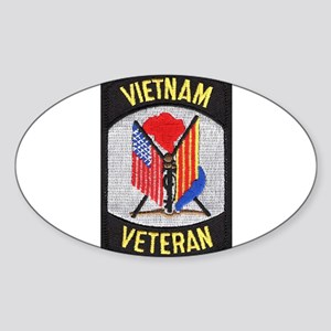 Vietnam Veteran Oval Sticker