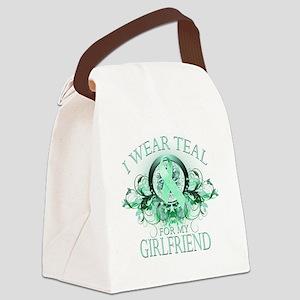 I Wear Teal for my Girlfriend (fl Canvas Lunch Bag