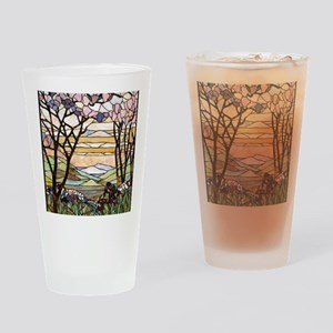 stained glass tree78 Drinking Glass
