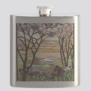 stained glass tree78 Flask