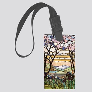 stained glass tree78 Large Luggage Tag