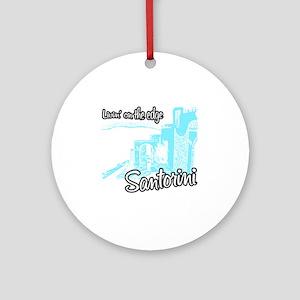 santorini8 Round Ornament