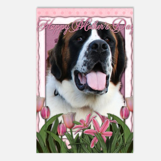 Mothers_Day_Pink_Tulips_S Postcards (Package of 8)