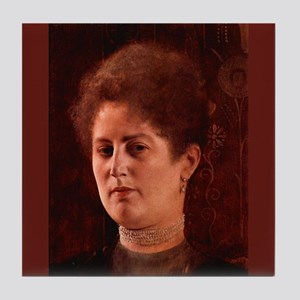 Gustav Klimt Art Tile Coaster Portrait of a Lady