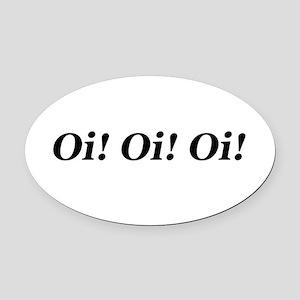 Oi Oval Car Magnet