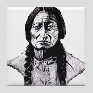 Sitting Bull Dark Huge Tile Coaster