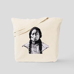 Sitting Bull Dark Huge Tote Bag
