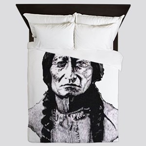 Sitting Bull Dark Huge Queen Duvet