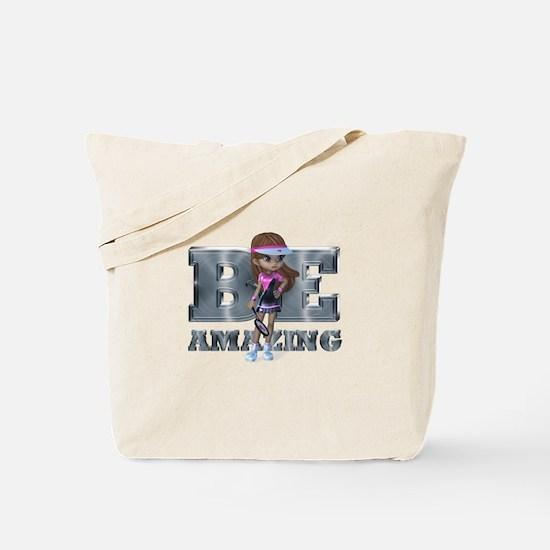 Be Amazing Tennis Tote Bag