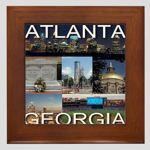 ATLANTAGEORGIA_TAL_COLLAGE Framed Tile