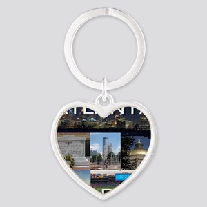 ATLANTAGEORGIA_TAL_COLLAGE Heart Keychain