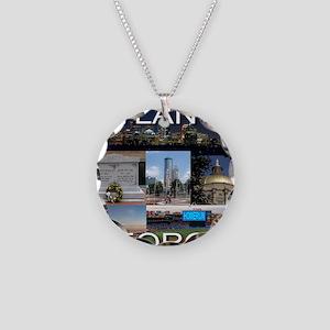 ATLANTAGEORGIA_TAL_COLLAGE Necklace Circle Charm