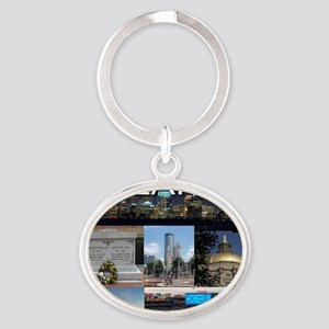 ATLANTAGEORGIA_TAL_COLLAGE Oval Keychain