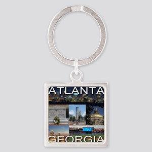 ATLANTAGEORGIA_TAL_COLLAGE Square Keychain