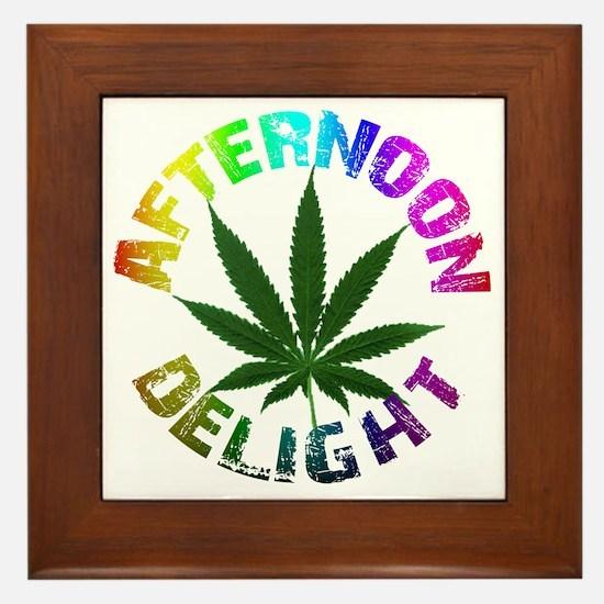 afternoon_delight_rainbow Framed Tile