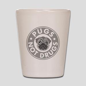 pugs-not-drugs-final Shot Glass