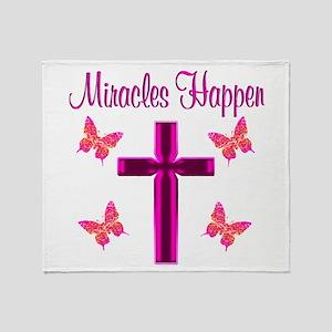 BELIEVE MIRACLES Throw Blanket