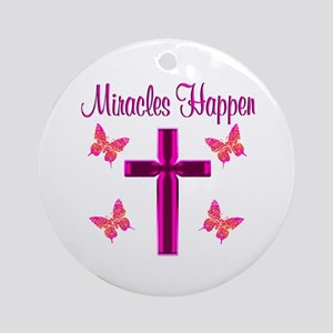 BELIEVE MIRACLES Ornament (Round)