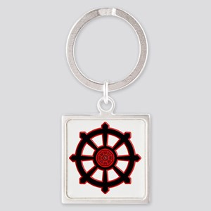 -Dharma initiative wheel of life s Square Keychain