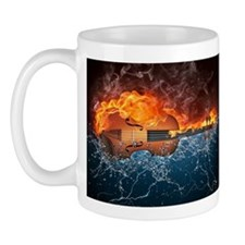 Fire and Water Violin Mug