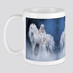 White Lady and Unicorn Mug