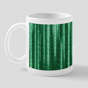 Green Binary Rain Mug