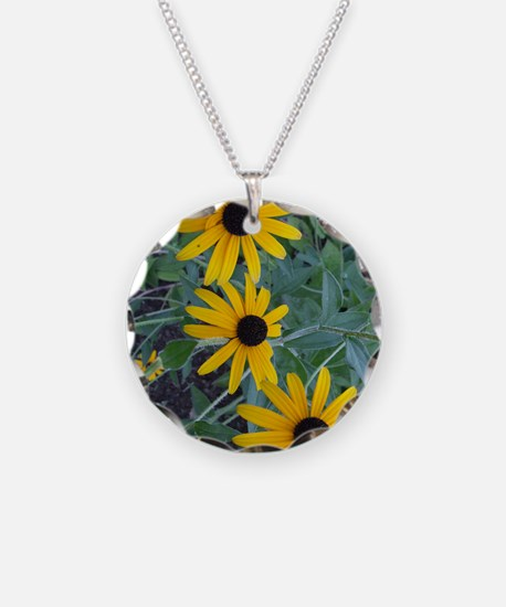 BlackEyedSusaniPadCase Necklace Circle Charm