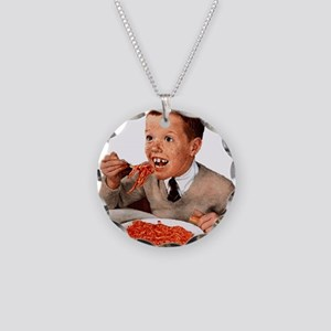 Creepy-Ginger-Kid Necklace Circle Charm