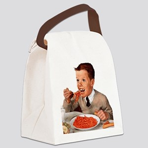 Creepy-Ginger-Kid Canvas Lunch Bag